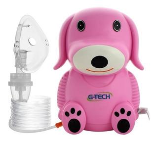 Nebulizador Infantil Nebdog Rosa Inalador Bivolt G-tech