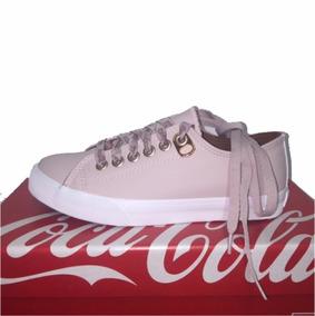 Tenis Coca Cola Basket Floater Cc1597 Feminino Rose