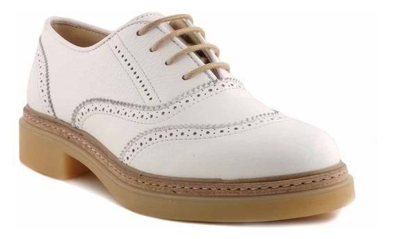 Zapato Cuero Mujer Briganti Abotinado Vestir Goma Mccha2952