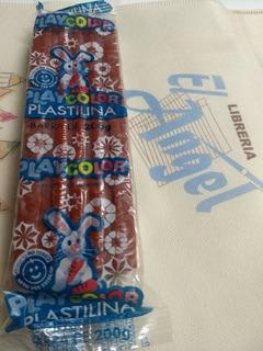 Plastilina Playcolor X 200 Grs Color Marron