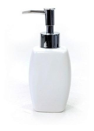 Dispenser Para Sabonete Líquido Álcool Gel Saboneteira Porcelana Branca De Mesa Para Pia Banheiro Lavabo Suíte