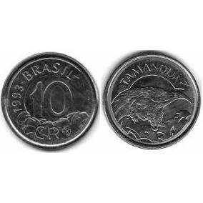 Moeda De 10 Cruzeiros Reais 1993