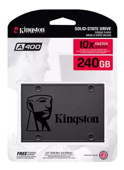 Hd Ssd Kingston A400 240gb Pc Notebook Garantia 1 Ano