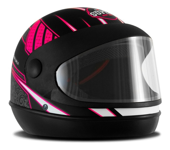 Capacete Fechado De Moto Sport Power Girls Pro Tork Feminino
