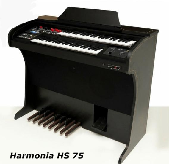 Órgão Musical Harmonia Hs 75 C/banqueta- Frete Á Negociar