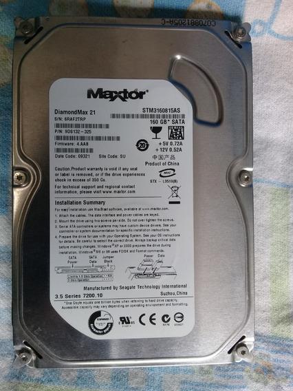 Hd 160 Gb Maxtor Para Pc Funcionado Perfeitamente.