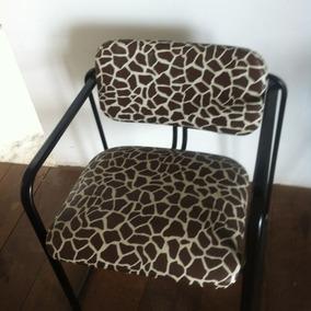 Cadeira Estampa Girafa Estilo Industrial