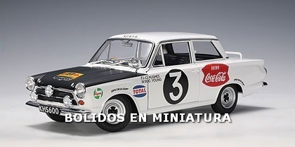 Ford Cortina Gt Mk1 1964 - #3 Huges / Young - Autoart 1/18