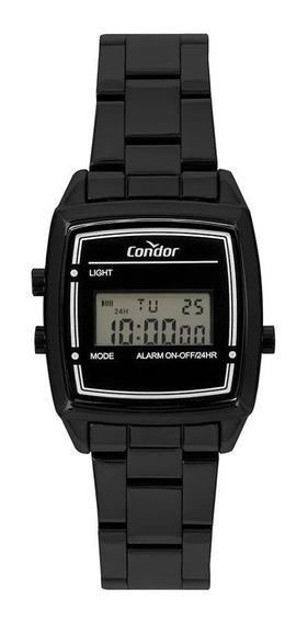 Relógio Digital Quadrado Peq Preto, Condor Cojh512af/4p