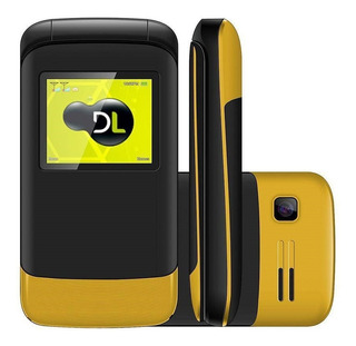 Telefone Celular Flip Dl Dual Fm Yc230ama - Preto/amarelo