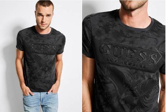 Remera Guess Logo Embossed Importada 100% Original