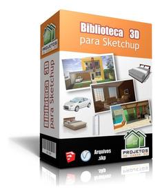 Biblioteca De Modelos 3d Para Sketchup - Projeto Arquitetura