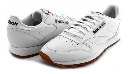 Tenis Reebok 49799 White/gum Cl Lthr 25-30 Caballeros
