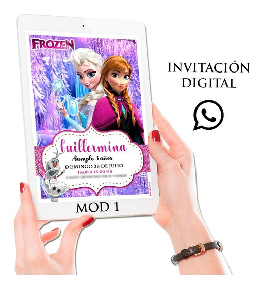 Invitaciones Digitales Envíalas Por Whatsapp Frozen