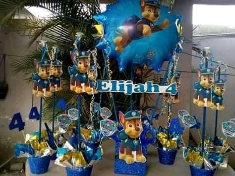 Centros De Mesa Para Piñata, Baby Shower Y Bautizo