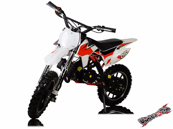 Mini Moto Cross 49cc 2t Super Vermelha