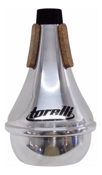 Surdina P/ Trompete Ta 113 Straight Alumínio Polido Torelli