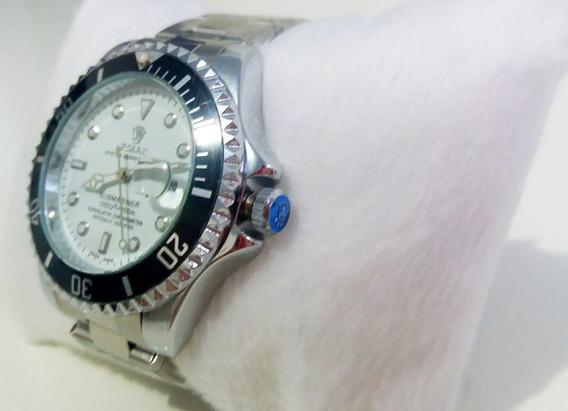 Relógio Submariner Silver E White