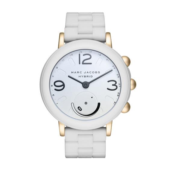 Reloj Elegante De Acero Inoxidable Y Caucho Riley Hybrid