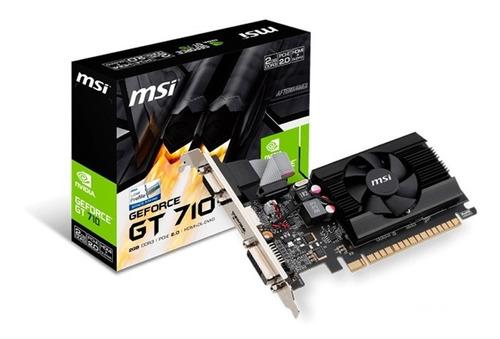 Tarjeta De Video Grafica Nvidia Gt 710 2gb Ddr3 64 Bits Msi