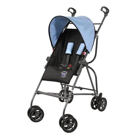 Carrinho De Bebê Capri Preto/azul - Galzerano