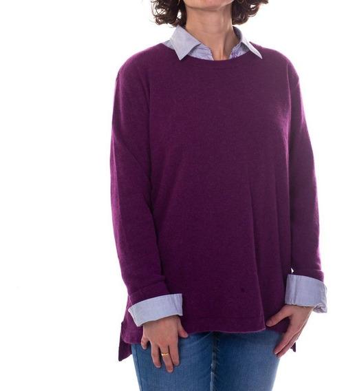 Sweater Michay Vellón Negro Lana Merino De La Patagonia