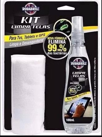 Kit Limpa Telas Rodabrill Tvs, Gps, Tablets Espelho Celular