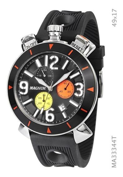 Relógio Magnum Masculino Preto Ma33344t