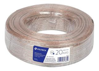 Cable Para Bocina 20 Awg Polarizado 100 M Volteck 46271