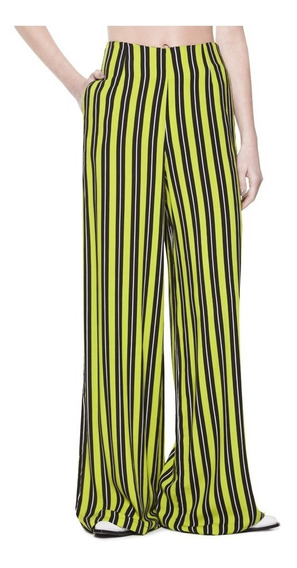 Pantalon Streak Relaxed Rayon Tiro Alto Casual Mujer Complot