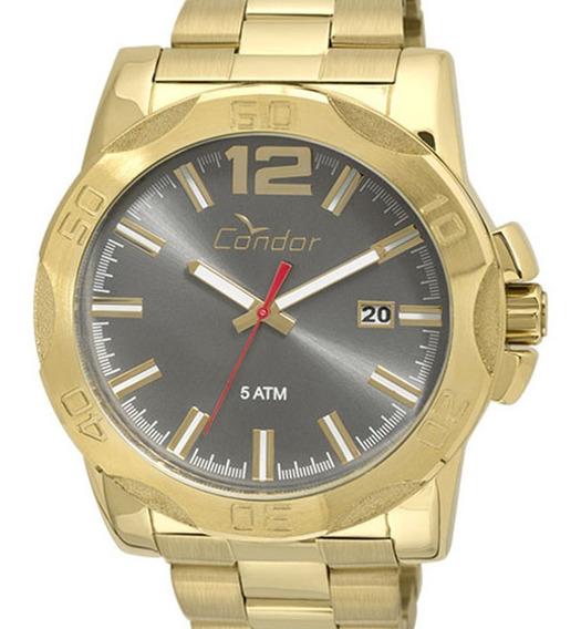 Relógio Condor Original Masculino Co2415bf/4c Dourado C/ Nfe