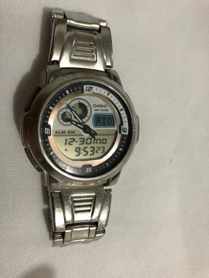 Relógio Cásio Aqf 102w Usado - Funcionando Perfeitamente