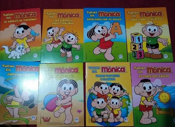 Turma Da Mônica Com 8 Livros Divertidos (gibi)