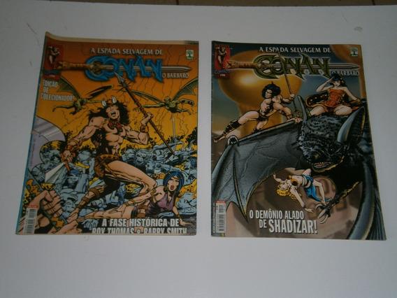Conan - A Espada Selvagem Nºs 196 E 198 Raros E Antigos