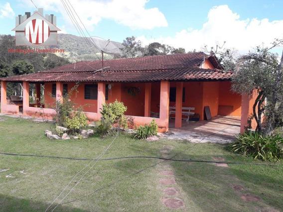 Chácara Rica Em Água Com Lago, Pomar, 02 Dormitórios À Venda, 1800 M² Por R$ 245.000 - Rural - Socorro/sp - Ch0469