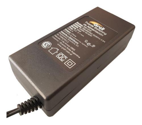 Fuente Switching Plastica Gralf 12v 5a Plug 5.5 Certificado