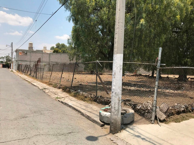 Terreno En Esquina Dos Frentes Al Lado De La México Pachuca