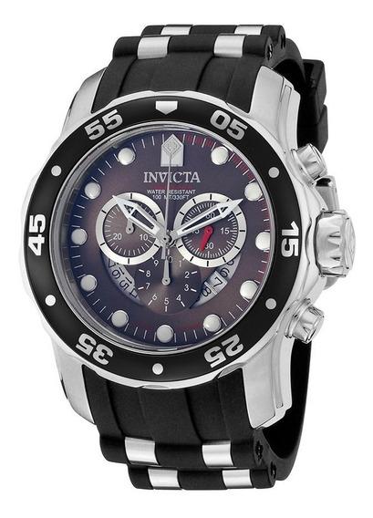 Reloj Invicta Pro Diver Cronógrafo Acero Negro Caucho 6977