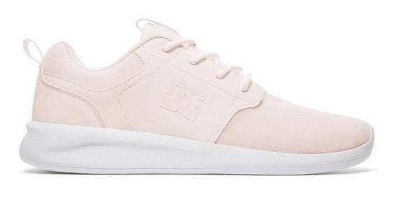 Zapatillas Dc Shoes Modelo Midway S Vn Rosa Blanco Mujer