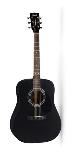 Imagen 1 de 4 de Guitarra Electro Acustica Ad810e Bks W/bag Cort