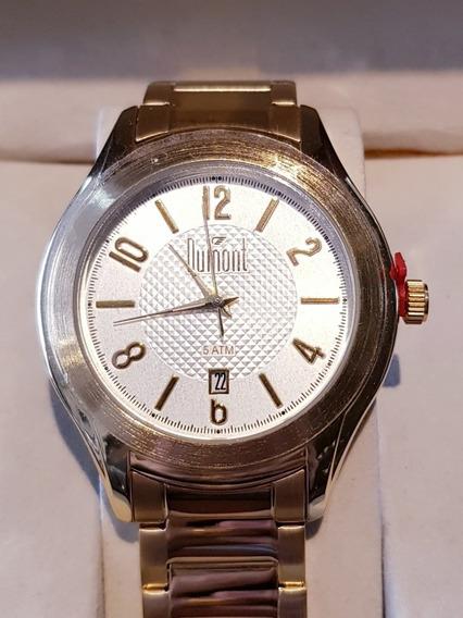 Relógio Dourado Dumont Dupc32ac/4x