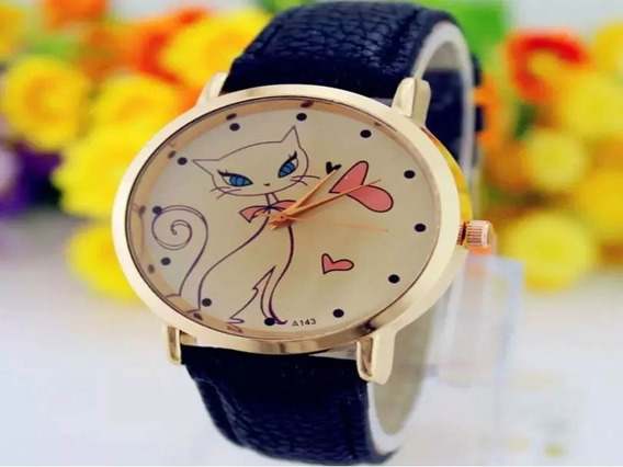 Relógio Pulso Feminino Gato Gatinho