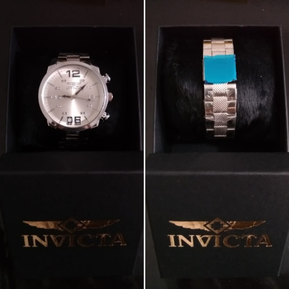 Relógio De Luxo Prateado Masculino
