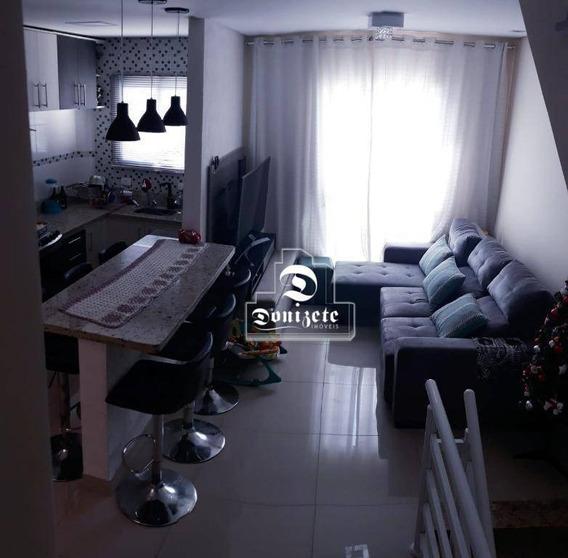 Sobrado Com 2 Dormitórios À Venda, 121 M² Por R$ 395.000 - Vila Pires - Santo André/sp - So2670