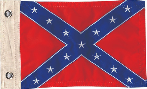 Bandeira Para Moto Bordada Confederados Dupla Face