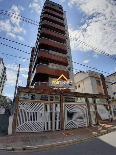Apartamento Com 2 Dormitórios À Venda, 65 M² Por R$ 250.000 - Vila Guilhermina - Praia Grande/sp - Ap1609