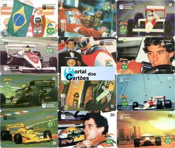 Ayrton Senna Do Brasil - 12 Cartões Telefônicos