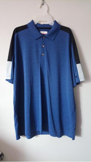 Playera Polo Marca Grand Slam Color Azul De Hombre Xl