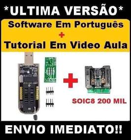 Gravador De Eprom Usb Ch341a Pro + Adaptador Soic8 200mil