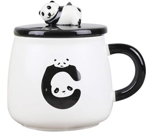 Tazas / Mugs Con Tapa, Diseño De Osos Panda
